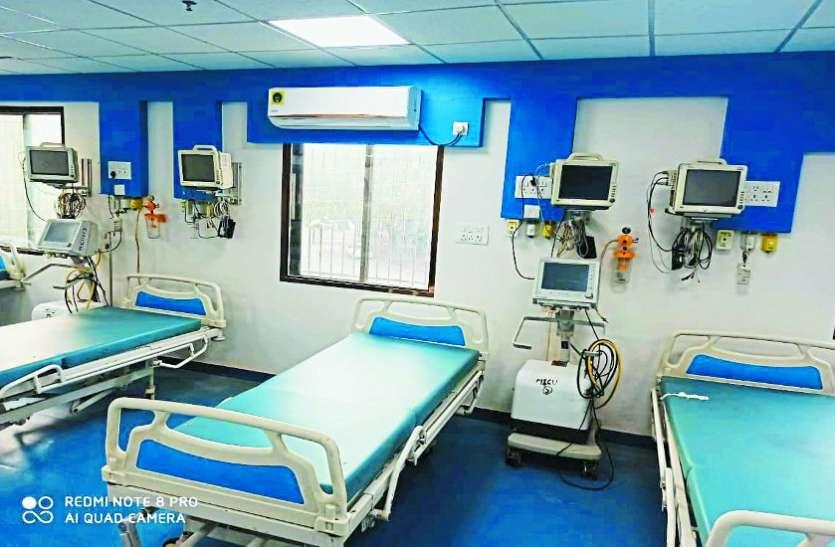 आंबेडकर अस्पताल में कोरोना के मरीजों के लिए 75 बेड का नया आईसीयू तैयार