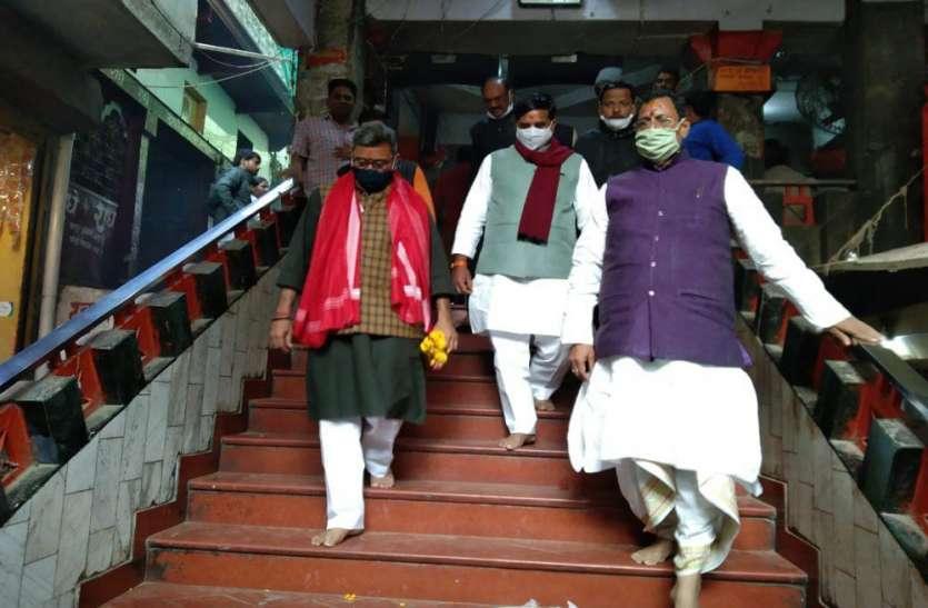 मंत्री नीलकंठ तिवारी ने मां विंध्यवासिनी के किए दर्शन, कहा- पर्यटन में यूपी नंबर वन
