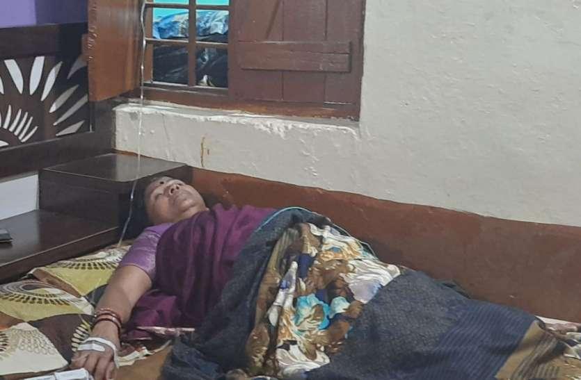 बीएसपी कर्मी की मौत के बाद पत्नी की तबीयत बिगड़ी, प्रबंधन नहीं पड़ रहा नरम