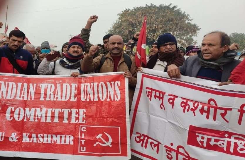 शाहजहांपुर किसान आन्दोलन में पहुंचे जम्मू-कश्मीर के किसान, गर्मजोशी से किया स्वागत