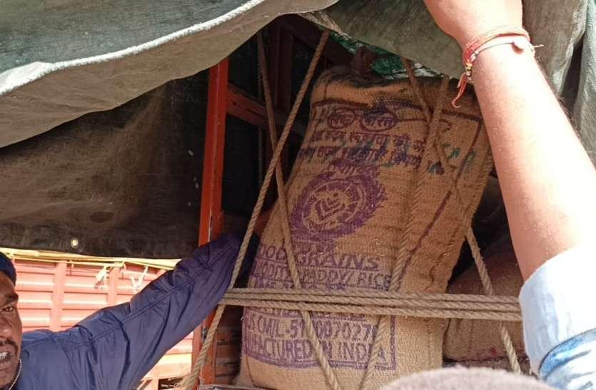 छत्तीसगढ़ की घटिया धान को अनूपपुर उपार्जन केन्द्रों पर बेचने की तैयारी, 371 बोरी धान जब्त