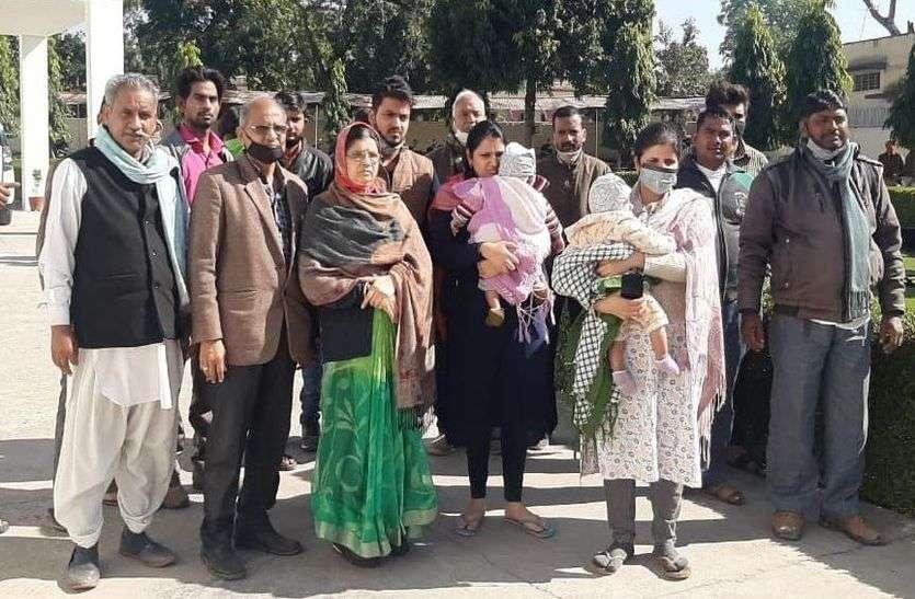 72 घंटे में खुलासा नहीं किया तो होगा आंदोलन, एसपी से मिला घायल व्यवसाई का परिवार