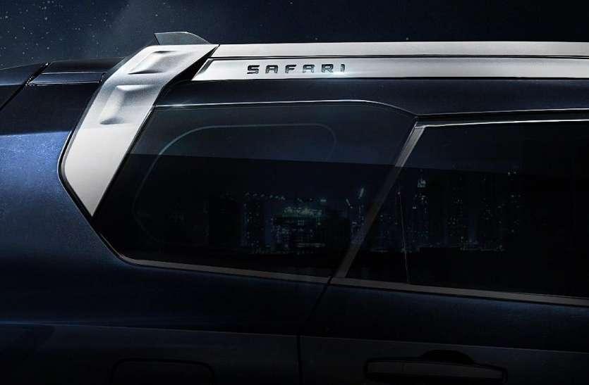 लॉन्चिंग से पहले बिल्कुल नई 2021 Tata Safari की सामने आई छोटी सी झलक