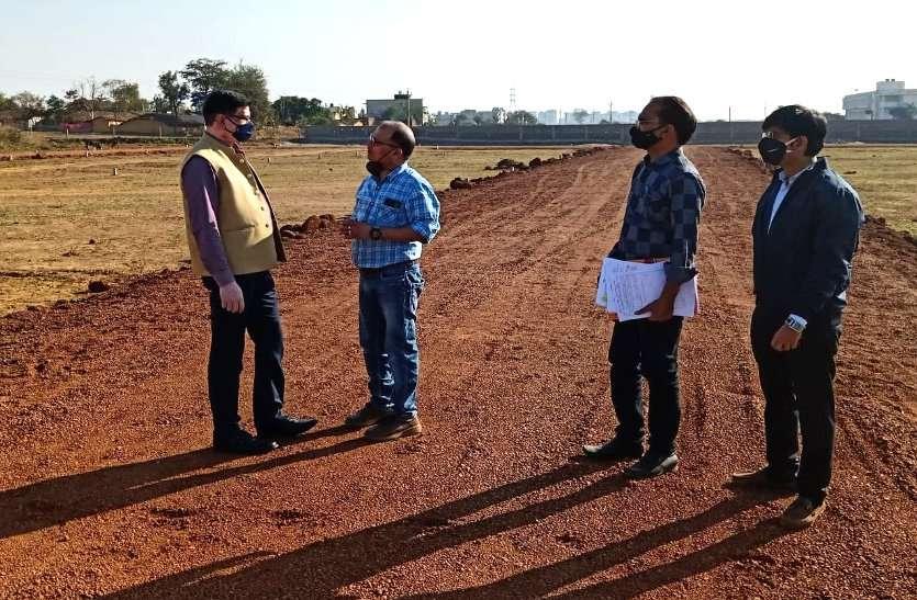 कलेक्टर से हुई शिकायत तब की अवैध प्लाटिंग पर कार्रवाई, बिना ले आउट स्वीकृत कराए कृषि भूमि पर चल रहा था निर्माण