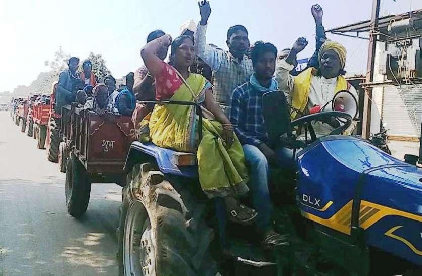 उदंती सीतानदी टाइगर रिजर्व क्षेत्र के 51 गांवों के लोग वाहन से पहुंचे गरियाबंद