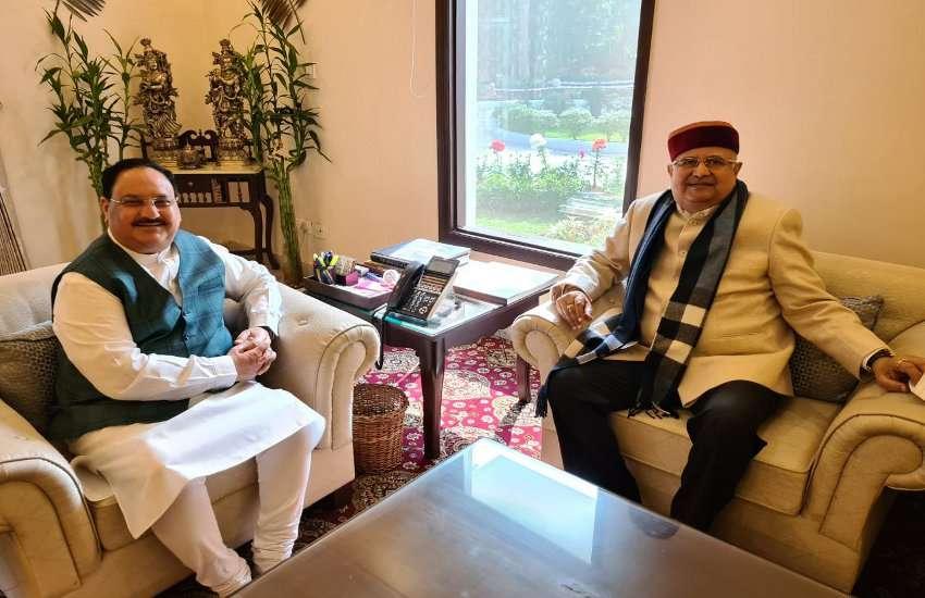 रमन ने राष्ट्रीय अध्यक्ष नड्डा से की मुलाकात, संगठन पर चर्चा