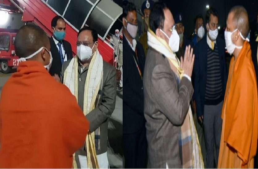 भाजपा राष्ट्रीय अध्यक्ष जेपी नड्डा दो दिवसीय दौरे पर पहुंचे लखनऊ, मुख्यमंत्री योगी ने किया स्वागत