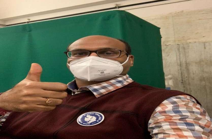 ऑर्थोपेडिक विभाग के 50 चिकित्सकों ने एक साथ लिया टीका