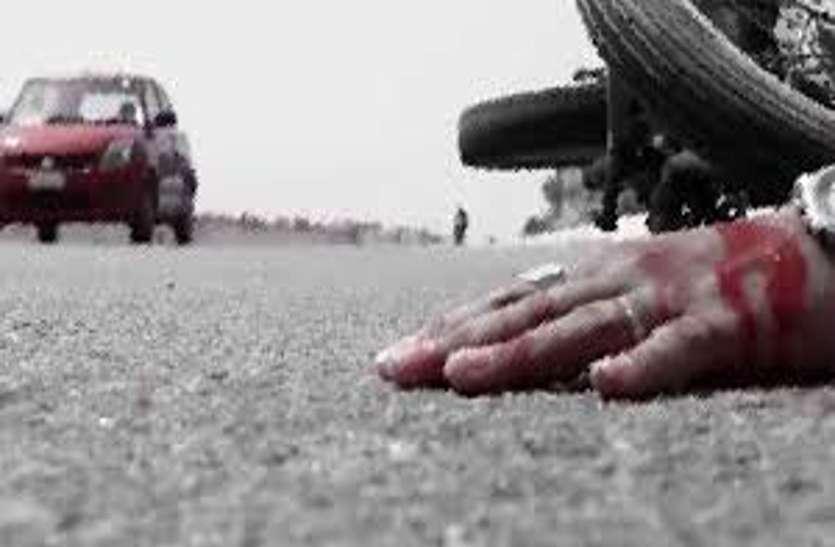 नेशनल हाइवे पर तेज रफ्तार स्कॉर्पियो ने बाइक सवार युवक को दी मौत, 2 दोस्त गंभीर