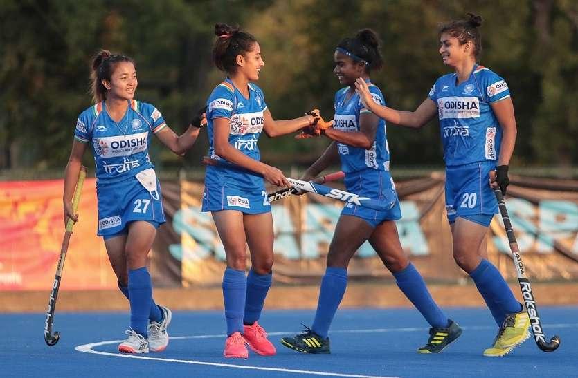 महिला हॉकी : भारतीय जूनियर टीम ने चिली की सीनियर टीम को 3-2 से हराया