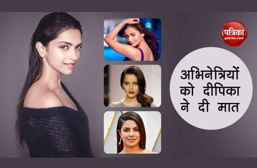 Deepika Padukone ने 'मोस्ट पॉपुलर स्टार्स इंडिया लव्स' की लिस्ट में पाया पहला स्थान, रेस में पछाड़ा कई एक्ट्रेसेस को