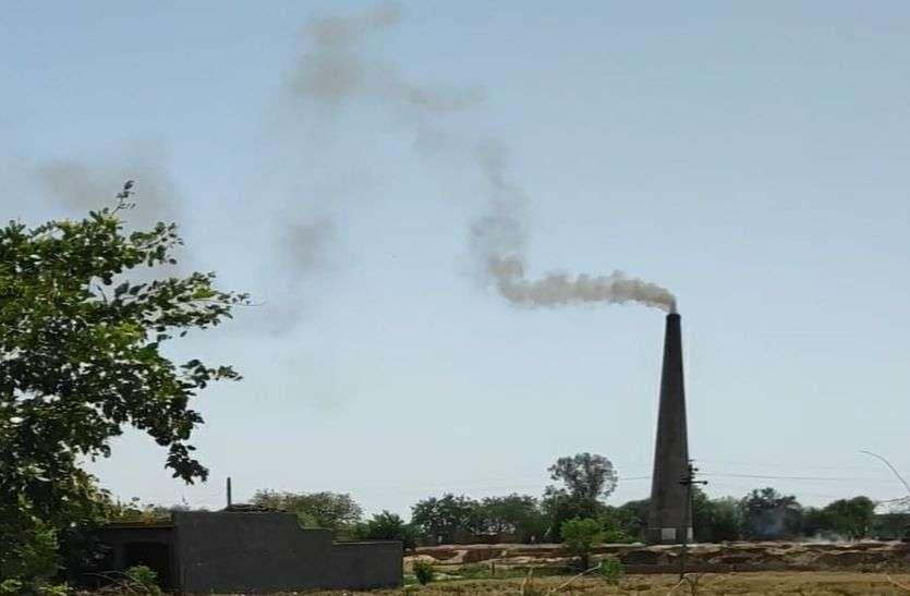 खतरनाक धुएं के आगोश में 40 हजार की आबादी, क्षेत्र में धधक रहे भट्टे