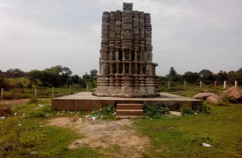 कोयलारी में स्थापित 12वीं सदी की कल्चुरीकालीन शिव मंदिर, अब अवशेष में स्थापित जिले की धरोहर