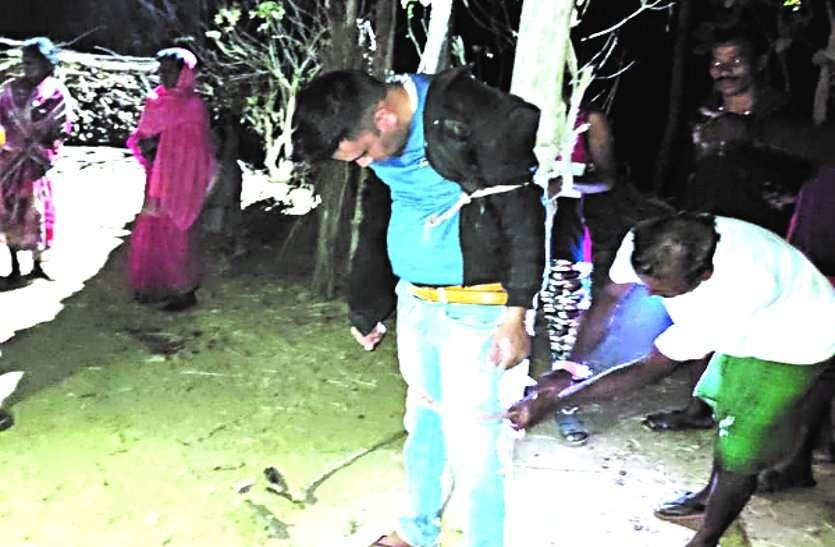 शादीशुदा पुलिस कांस्टेबल ने नाबालिग लड़की की इज्जत लूटी, ग्रामीणों ने खंबे से बांधकर किया जमकर पिटाई, वीडियो वायरल