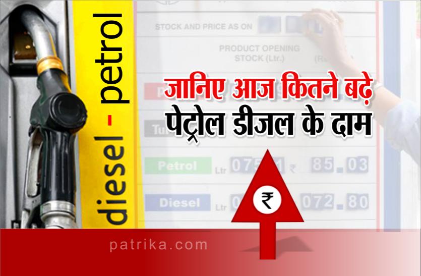 तेल की कीमतों में रिकॉर्ड वृद्धि: पेट्रोल 93.58 और डीजल के रेट 83.82 रुपए प्रति लीटर