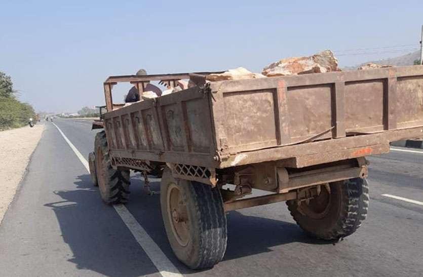 कर्मचारियों से की मारपीट कर जब्त ट्रैक्टर-ट्रॉली छुड़ा ले गए खनन माफिया