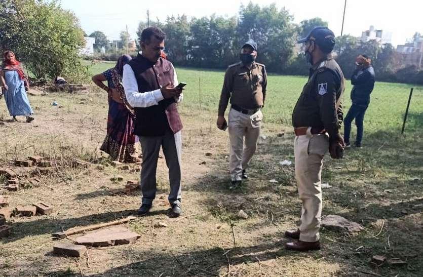 पुलिस के पहुंचते ही भागा अवैध कब्जाधारी