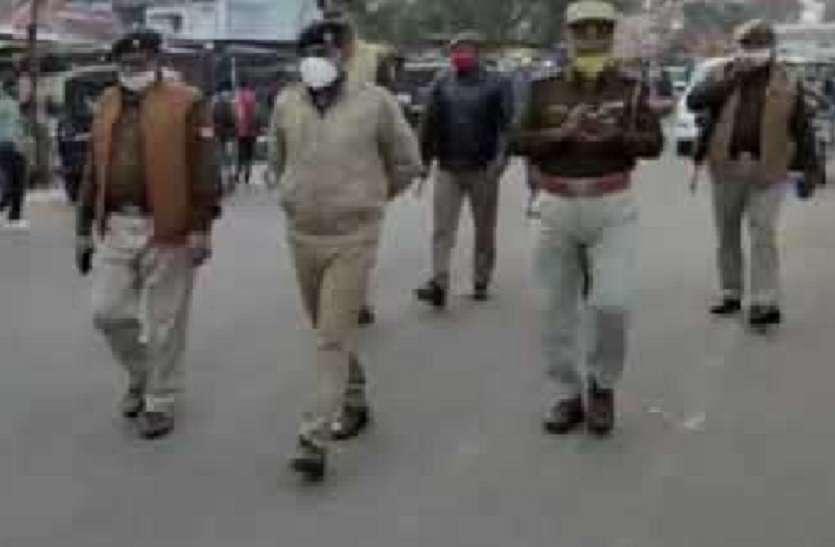 गणतंत्र दिवस की पूर्व संध्या पर पुलिस अधीक्षक ने किया निरीक्षण