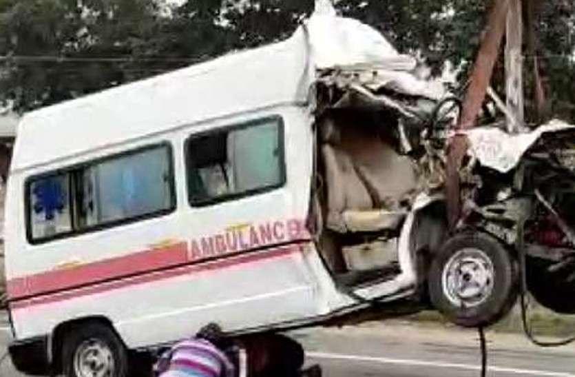 पश्चिम बंगाल से शव लेकर राजस्थान आ रही एंबुलेंस कंटेनर से टकराई, चालक समेत पांच की मौत