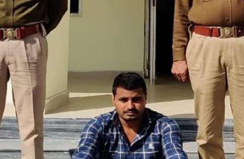 ट्रेलर चालक से लूट का आरोपी गिरफ्तार