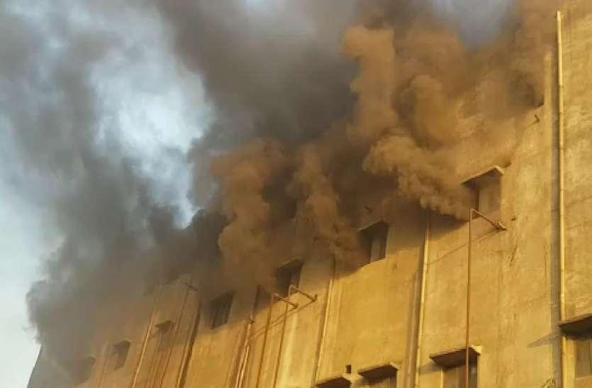 कड़ोदरा की गार्डन मिल में आग से अफरा-तफरी