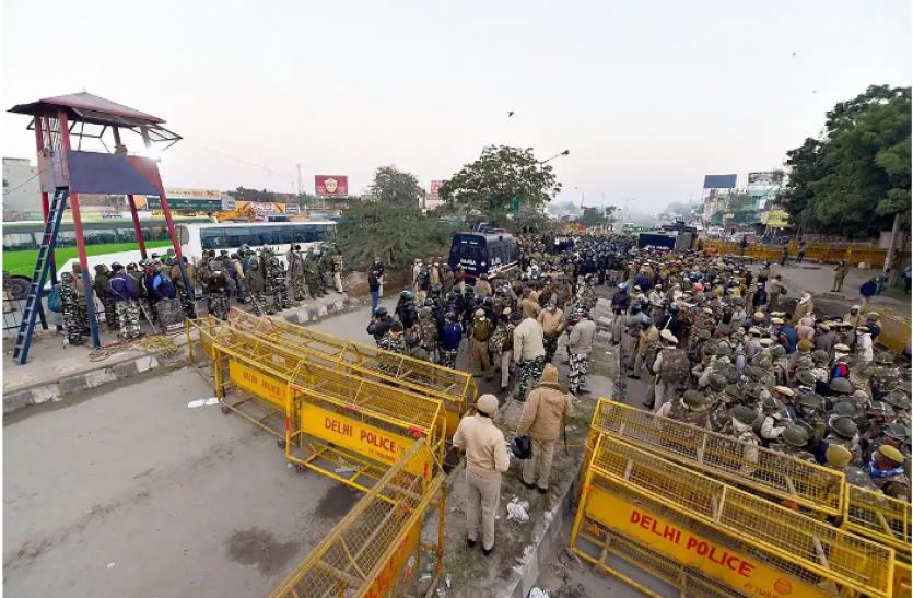 Farmer Protest : गाजीपुर बॉर्डर की बिजली गुल, पूरी रात दिल्ली पुलिस देती रही पहरा