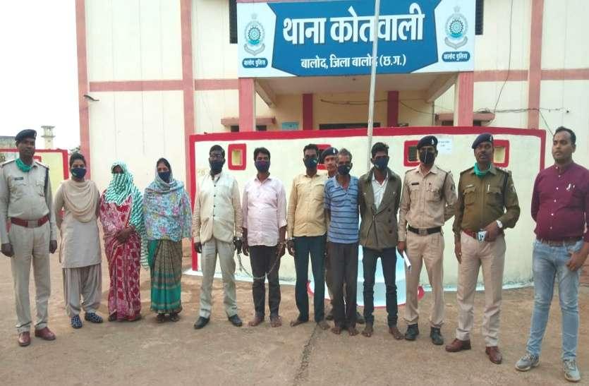 बालोद: सरपंच की हत्या करने वाले सात आरोपी गिरफ्तार, दो महिलाओं ने भी फावड़ा और डंडे से पीट-पीटकर मारा