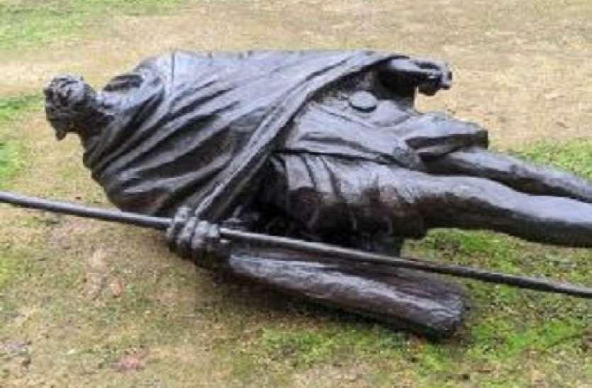 अमरीका में Mahatma Gandhi की मूर्ति से तोड़फोड़, चार साल पहले भारत ने इस शहर को दिया था उपहार