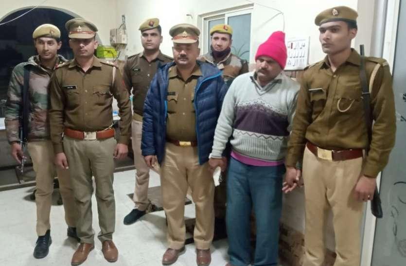 बरेली जेल से फरार 50 हजार का इनामीकैदीबिजनौर से गिरफ्तार