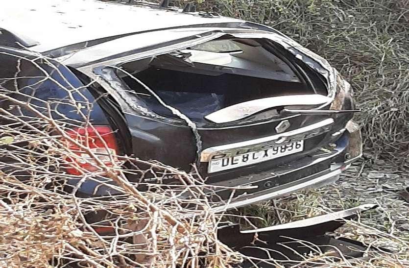 कार अनियंत्रित होकर पेड़ से टकराई, हादसे में सांसद पति समेत आधा दर्जन घायल