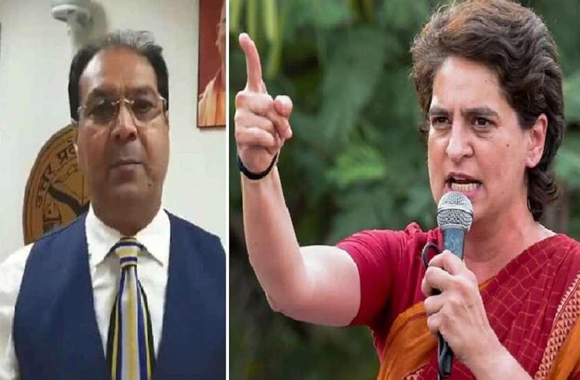 योगी के मंत्री ने कसा प्रियंका गांधी पर तंज, कहा कार का शीशा नहीं अपना मुंह साफ करे कांग्रेस
