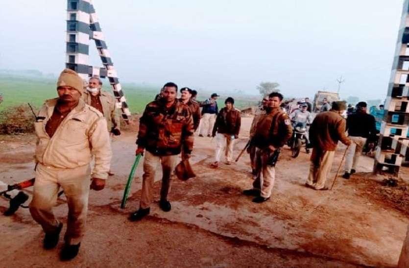 पुलिस पर रेत माफिया का हमला, टीआई घायल
