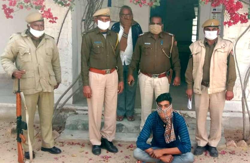डेढ़ किलो अफीम के दूध, डोडापोस्त व नकदी के साथ आरोपी गिरफ्तार