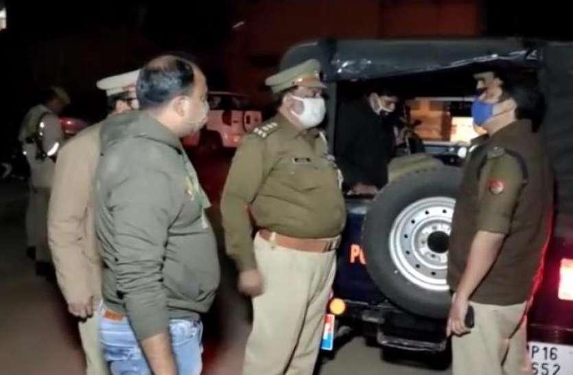 चैकिंग के दौरान पुलिस और बदमाशों में मुठभेठ, हिस्ट्रीशीटर गोली लगने से घायल, साथी फरार