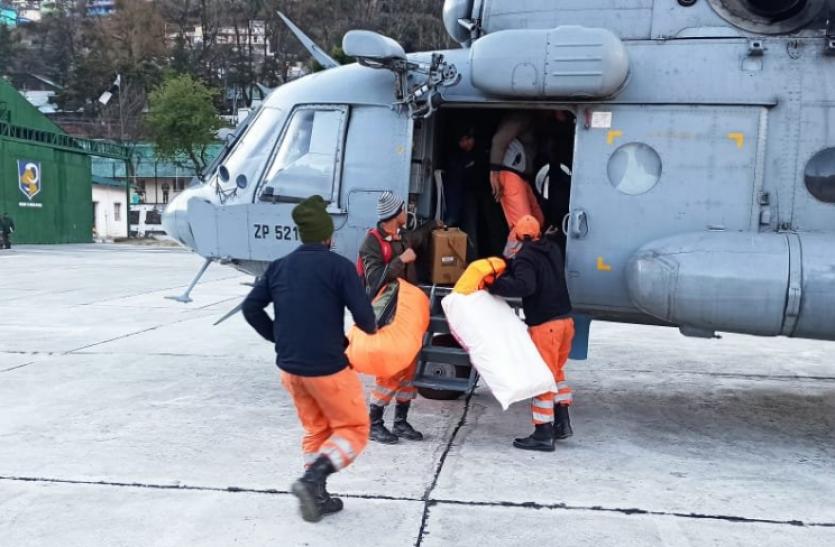 Chamoli tragedy : देहरादून से जोशीमठ के लिए हवाई अभियान फिर शुरू, 14 की मौत