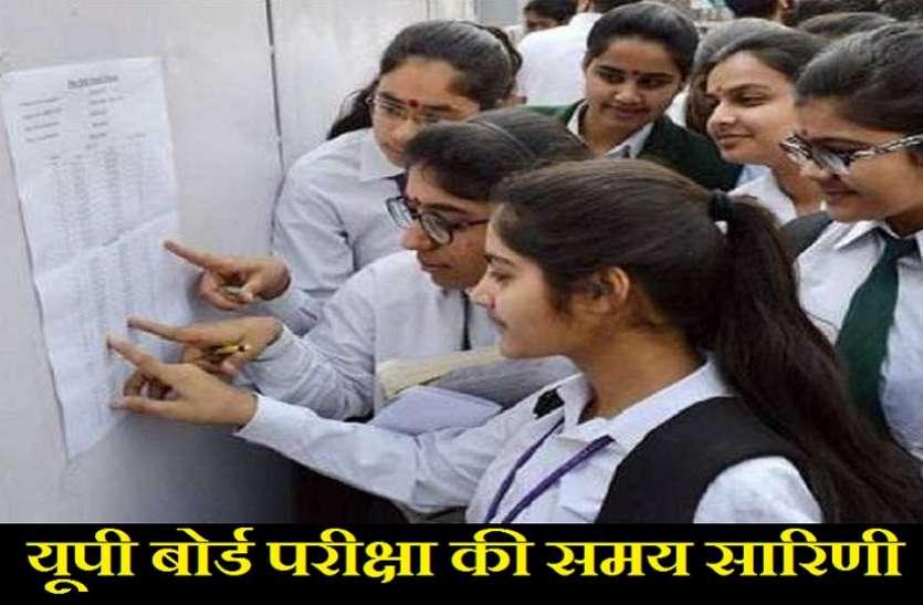 UP Board Scheme 2021 : हाईस्कूल और इंटरमीडिएट के सभी छात्र अपनी परीक्षा की समय सारिणी यहां देखें