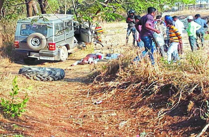 ट्रैक्टर और बोलेरो में भिड़ंत तीन लोगों की मौत, दो घायल