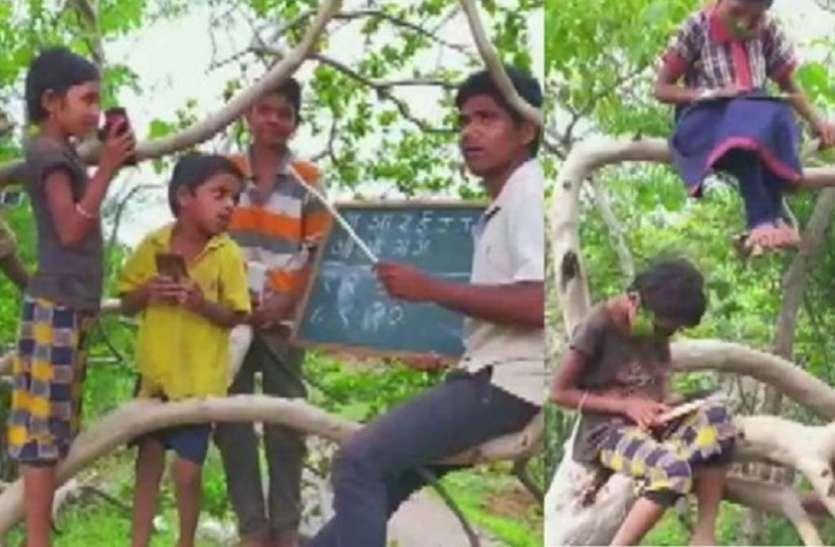 इस गांव के बच्चे घर पर नही पेड़ों और छतों पर पढ़ने को हैं मजबूर, जाने इसके पीछे की खास वजह