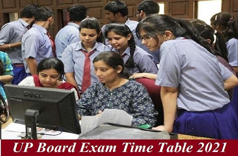 UP Board Time Table 2021 : हाईस्कूल के सभी छात्र यहां देखें अपनी परीक्षा के मुख्य पेपर व तारीखें