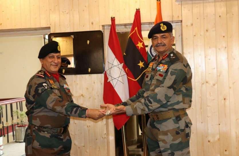 लेफ्टिनेंट जनरल मन्हास जोधपुर की कोणार्क कोर के कमाण्डर
