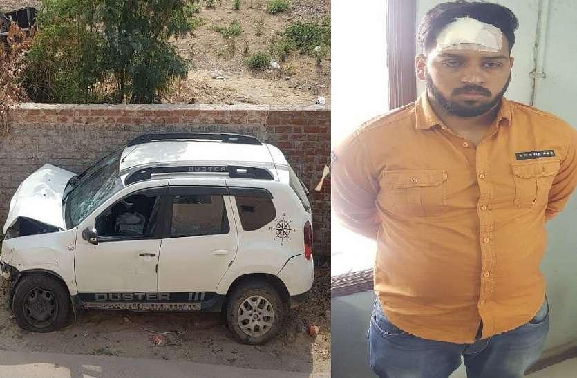 कार सवार तीन युवकों ने तोड़ी नाकाबंदी, एक आरोपी गिरफ्तार