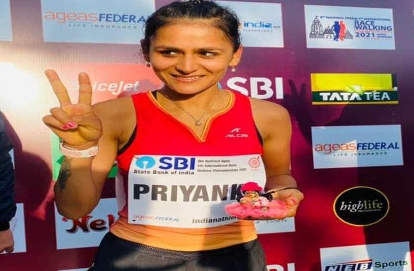 मेरठ की बेटी प्रियंका के नए कीर्तिमान पर सीएम योगी ने दी बधाई, अब ओलंपिक में बढ़ाएगी देश का मान
