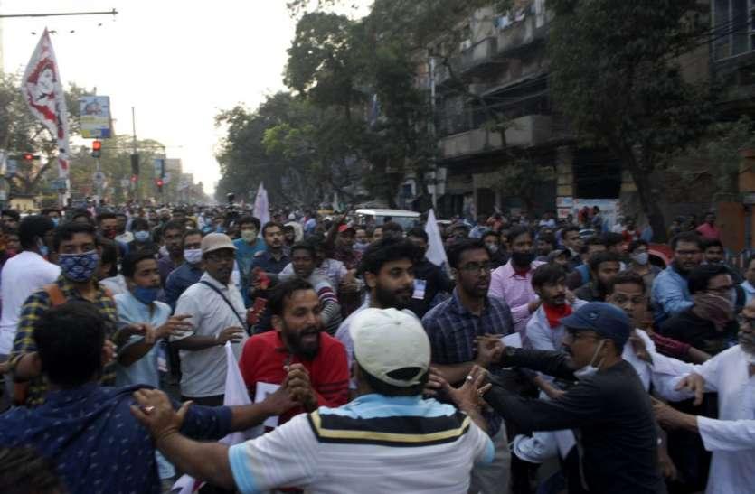 पश्चिम बंगाल पुलिसकर्मियों की बेदम पिटाई...