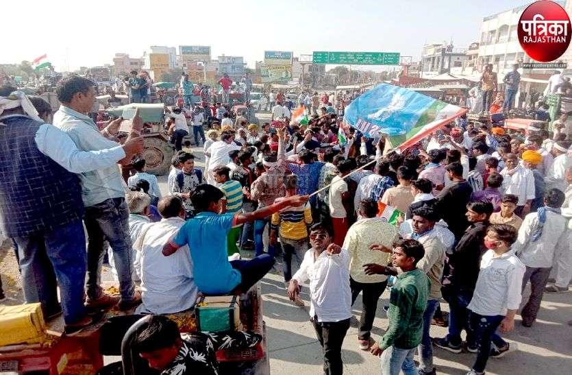 जैतारण में किसानों ने निकाली ट्रैक्टर तिरंगा रैली