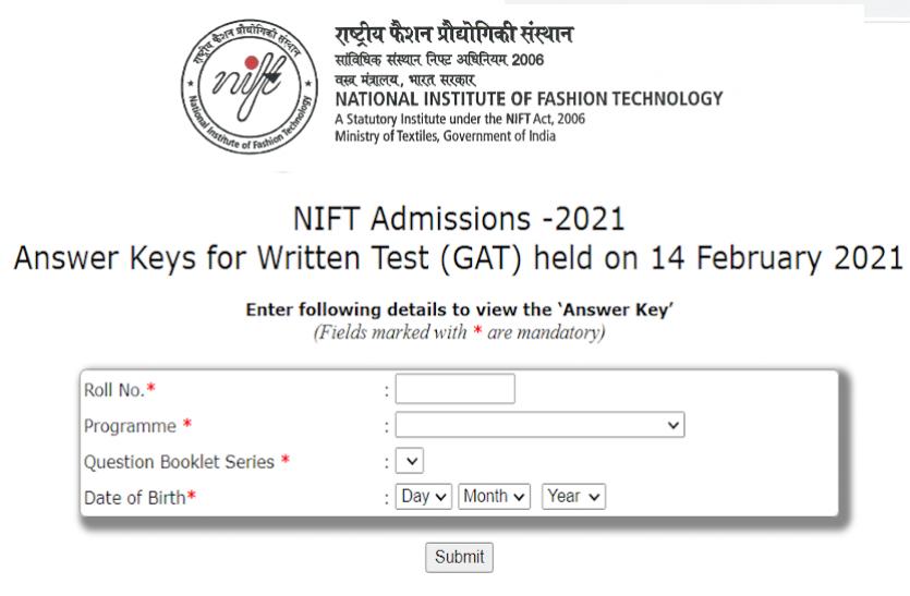 NIFT 2021 Answer Key: निफ्ट प्रवेश परीक्षा की Answer Key जारी, यहां से करें चेक