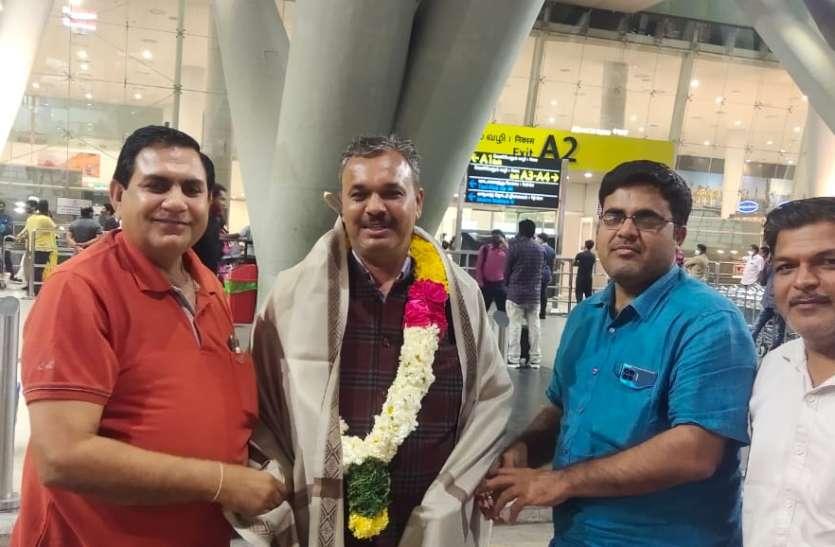 भाजपा के राष्ट्रीय परिषद सदस्य पूनाराम चौधरी का चेन्नई में स्वागत