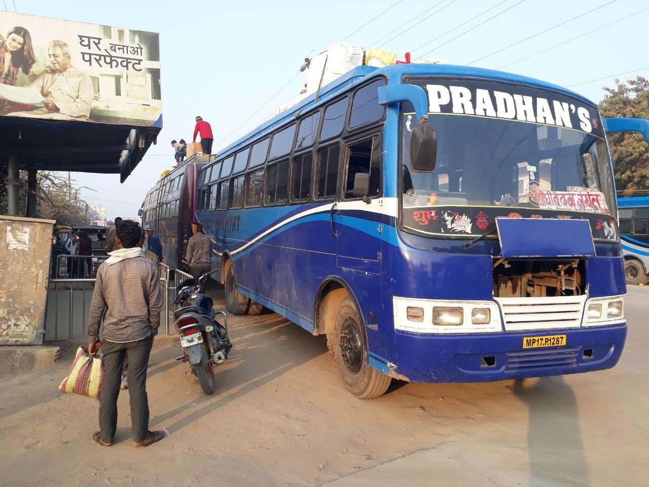 bus  Operator loading overload parcel