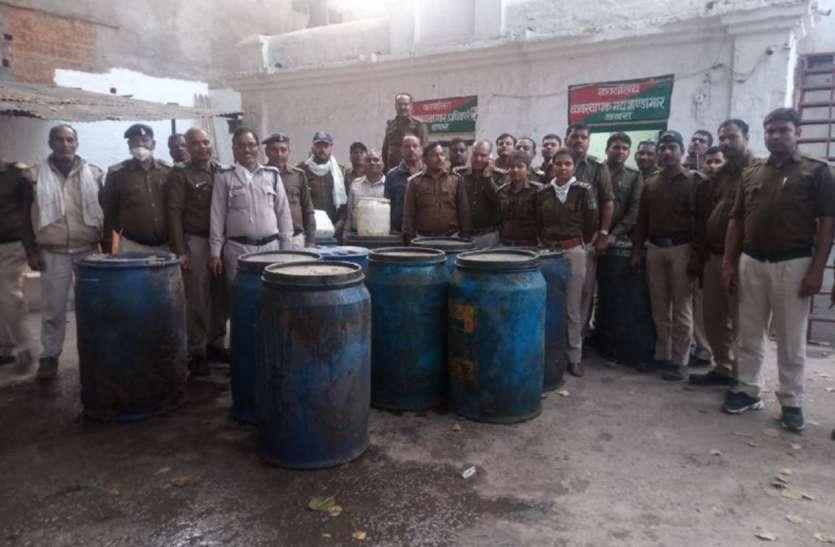 अवैध शराब पकड़ी और ३६ बीघा जमीन कराई मुक्त