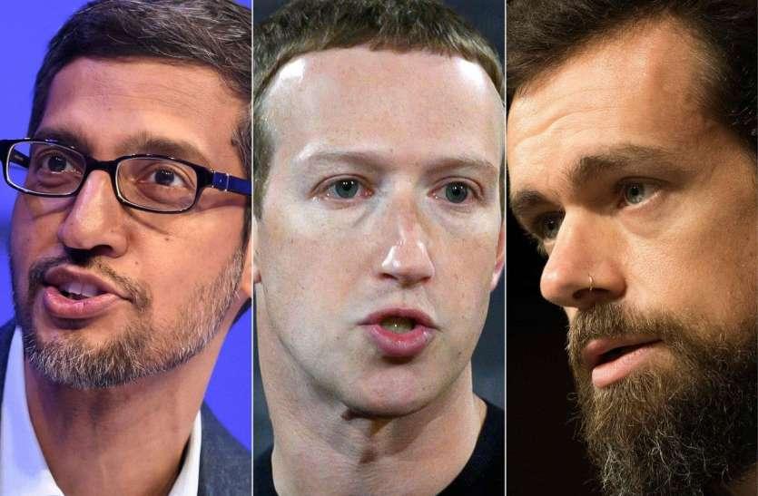 गूगल, फेसबुक और ट्विटर ने गलत जानकारी फैलाई, अब होगी अमरीकी संसद में सुनवाई