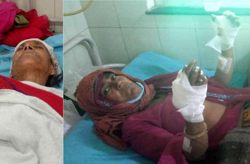 धारदार हथियार से दो महिलाओं पर किया जानलेवा हमला